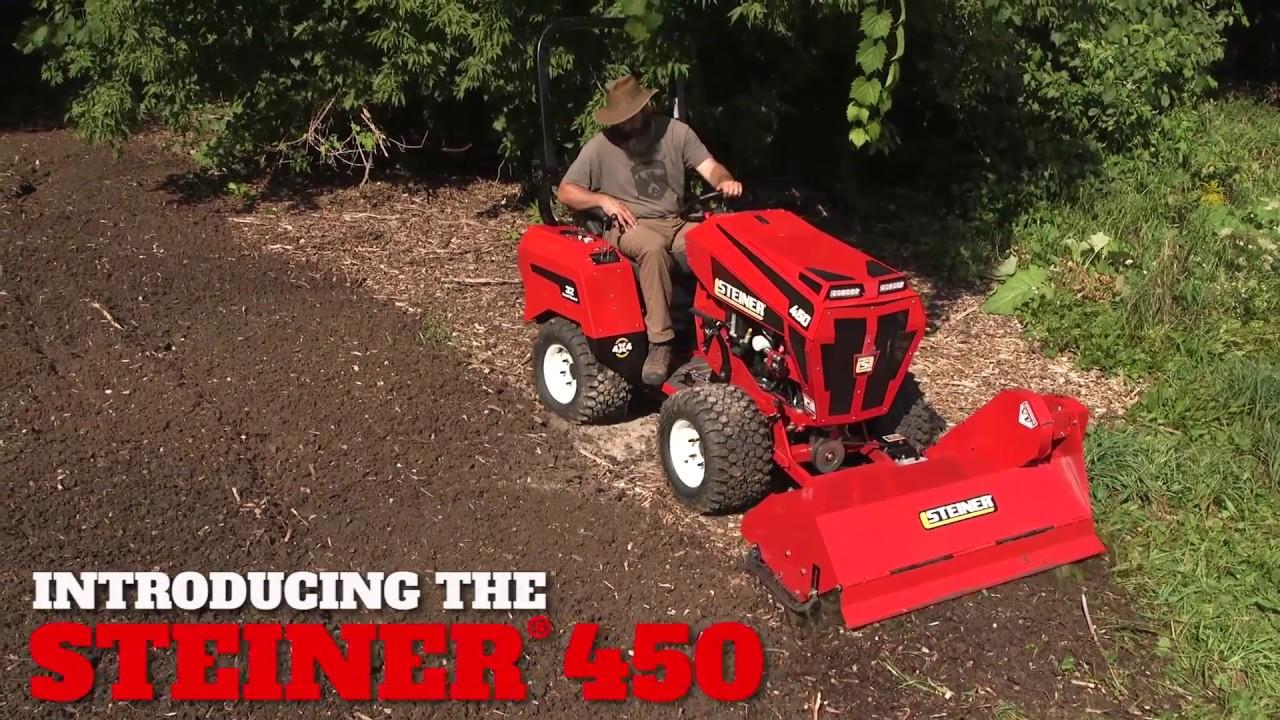 Soil Tiller for the Steiner 450 - YouTube
