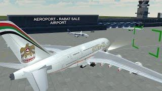 FLIGHT 787 - Advanced - AIRBUS A380 - [Etihad Airways from Morocco (GMME) to ...