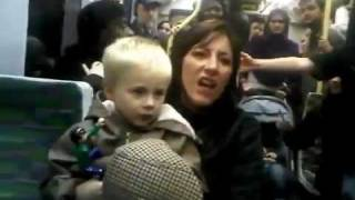 Racist British English Lady with Baby on Tram in Croydon South London