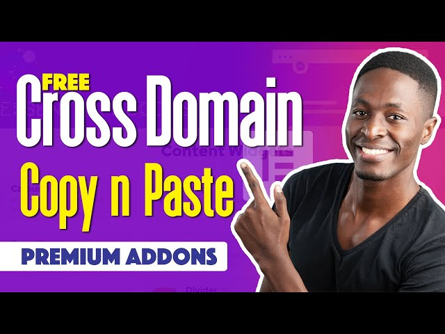 Free Cross Domain Copy and Paste in Elementor with Premium Addons