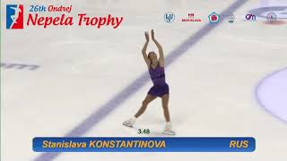 Станислава Константинова - Stanislava KONSTANTINOVA -  Ondrej Nepela Trophy FS - September 22, 2018