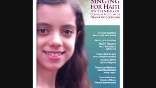 """Denná Good-Mojab, 13, """"Dota Cheshme Siah Dari"""" (Singing for Haiti 2010)"""