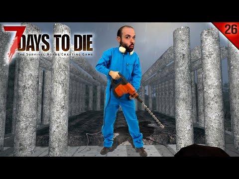 7 DAYS TO DIE #26 | EL TALADRO MINERO | Gameplay Español