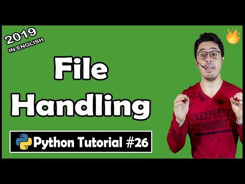 File Handling in Python   Python Tutorial #26 thumbnail
