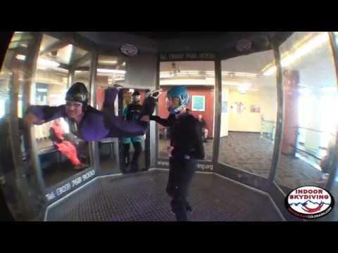 1 Arm Skydiver Wind Tunnel Eileen Greffard and I 040914