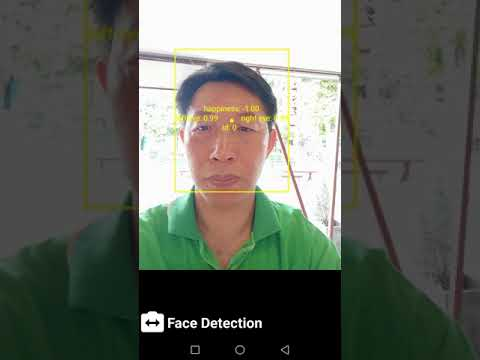 MLkit Machine Learning Face Detection