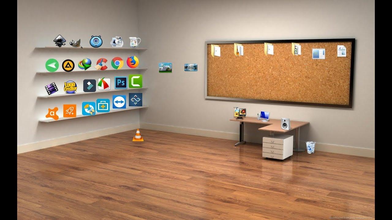 كيف تجعل سطح المكتب ثلاثي الابعاد 3d جميل ومنظم Youtube