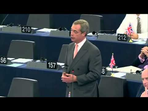 Farage's farewell speech to President Barroso