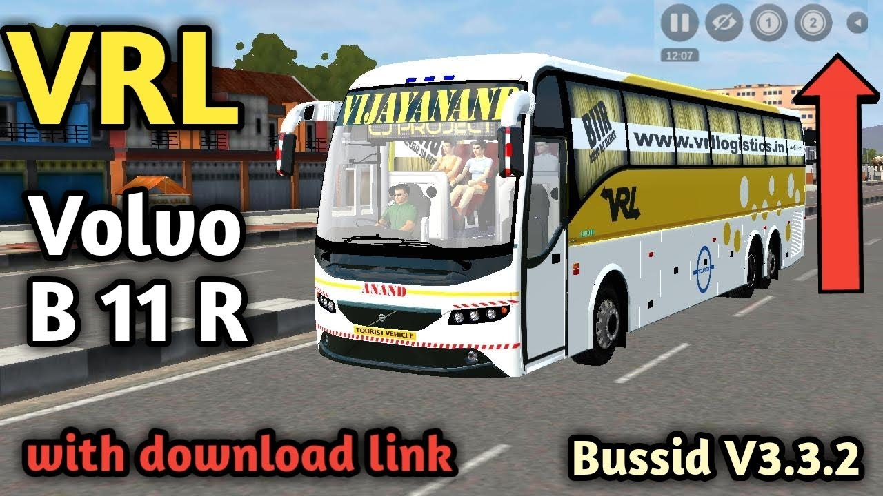 Vrl Volvo B11r Bus Mod With Download Link For Bussid V3 3 2 Bus Simulator Indonesia Youtube