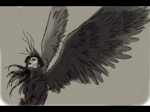 How to draw a dark angel - YouTube