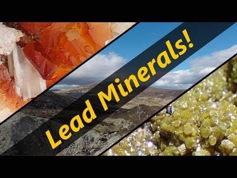 Lead Minerals At An Old Mine In Europe!