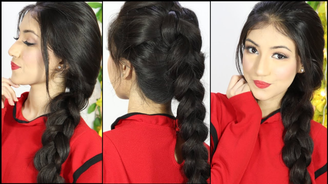 2 Ways To Make Your Regular Braid More Beautiful Hairstyle For Party Or Wedding Youtube