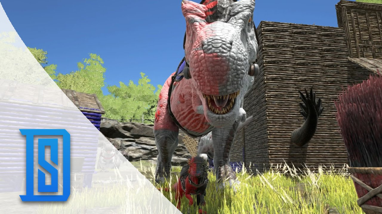 Ark Survival Evolved Bonus Clip Dino War Paint Lets Fail At Painting Youtube