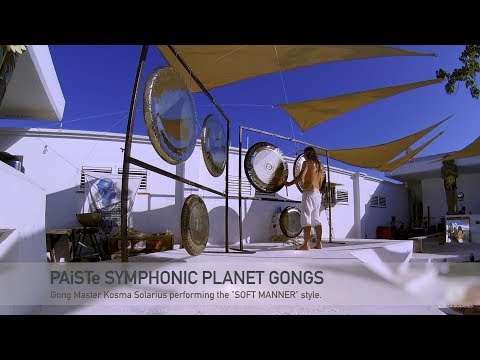 Soft Manner gong stroking technique shown on PAiSTe Symphonic Planet Gongs