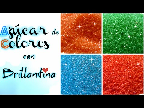 Diy Azucar De Colores Con Brillantina Sugar Colors Glitter