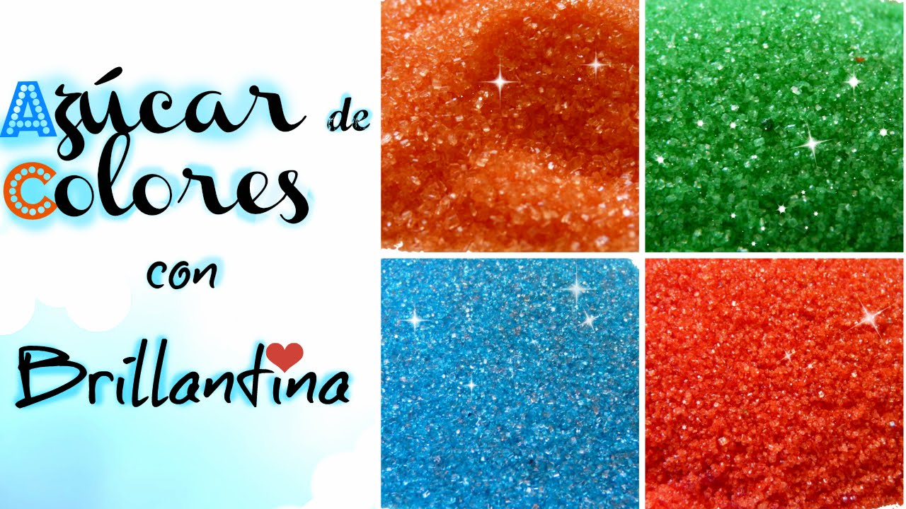 Diy Azucar De Colores Con Brillantina Sugar Colors Glitter Cakemol