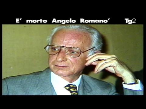 Il Tg2 annuncia scomparsa Angelo Romanò
