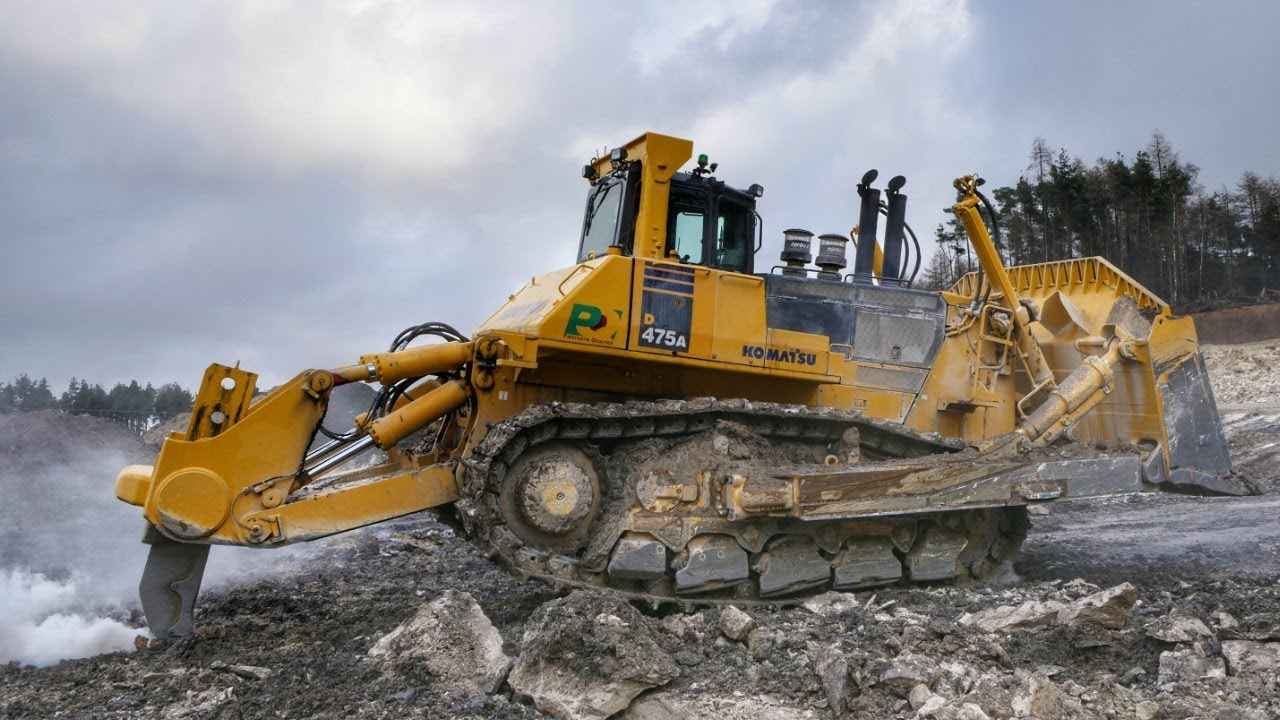 Largest Dozer In The Uk Ripping Rock