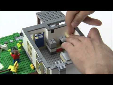 Hillside House with furniture - LEGO Creator - Designer Tips