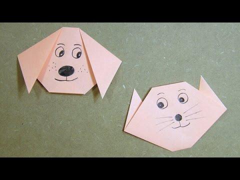 Origami Cat / Dog Tutorial - YouTube