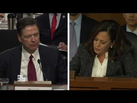 Sen. Harris asks Comey if it was appropriate for Sessions to be involved in firing after recusal