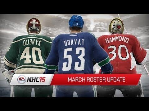 Nhl 15 March Roster Update