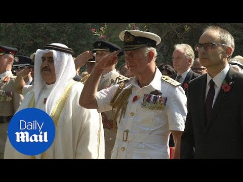Prince Charles lays down wreath at Bahrain Armistice Service - Daily Mail