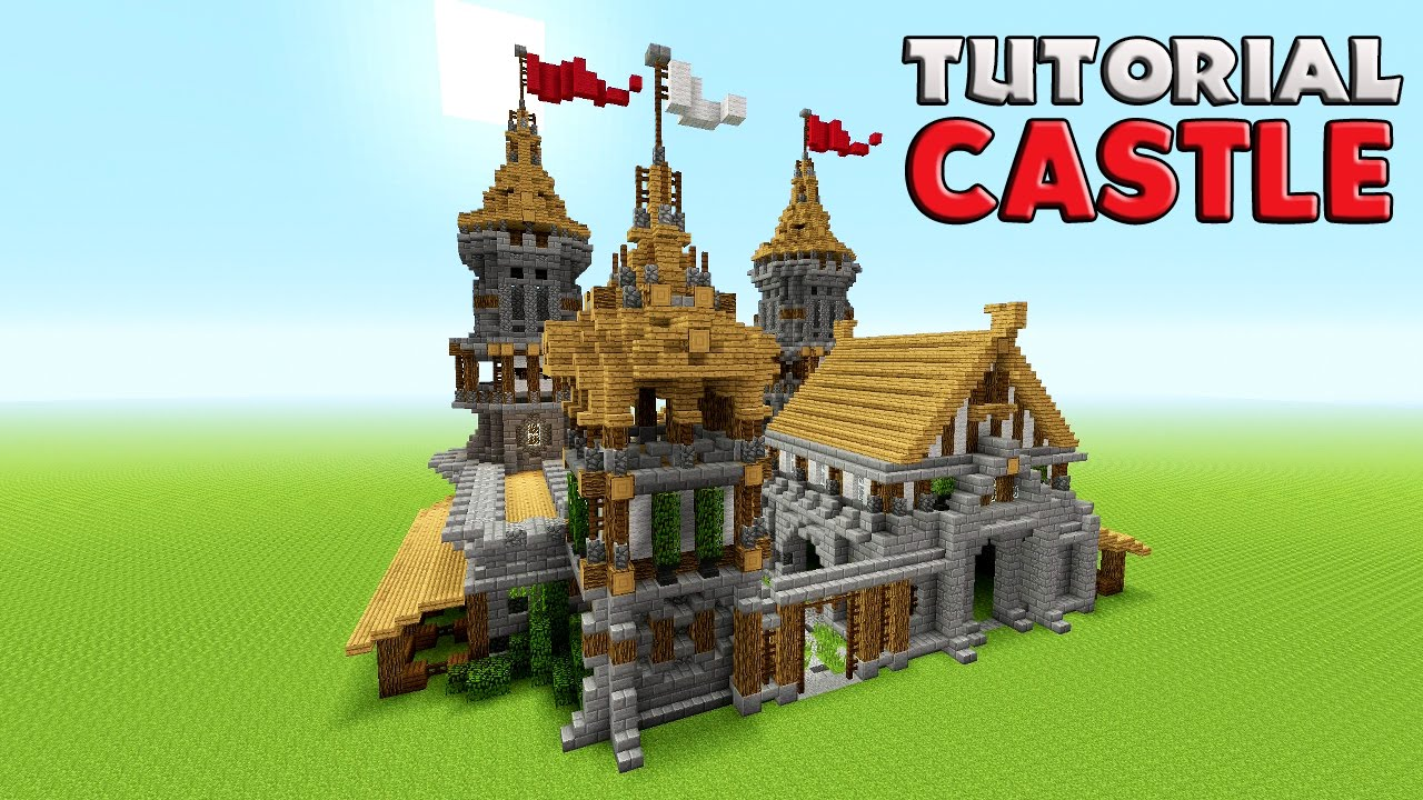 Minecraft how to build a castle tutorial barracks for Build a castle home