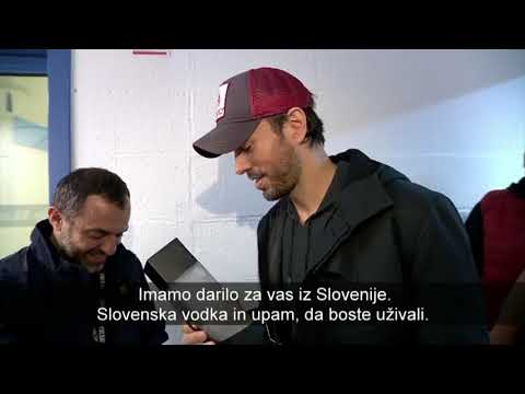 Enrique Iglesias - Interview for Slovenian TV Part 1