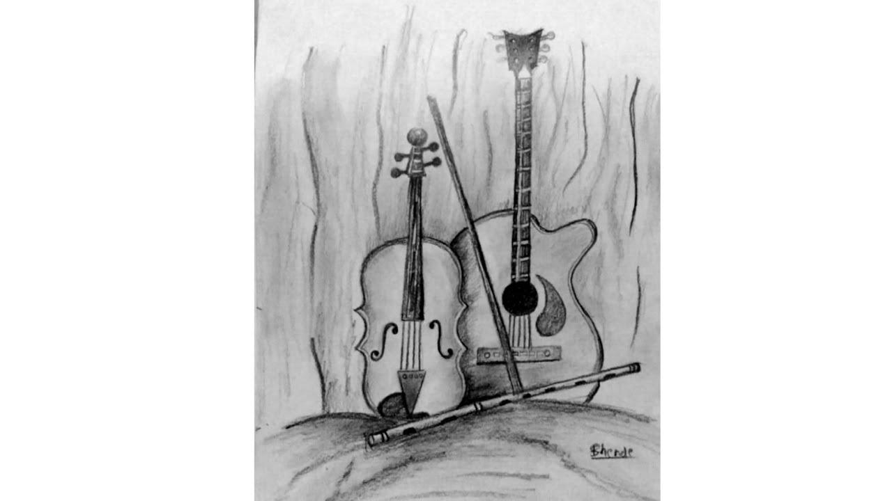 Guitar sketch unique sketch art guitar simple sketch sketching 2018 how to draw guitar guitar ind
