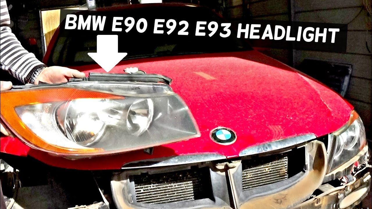 bmw e90 e92 e93 headlight removal replacement 325i 328i 330i 335i 320d 316i 318i 335d youtube. Black Bedroom Furniture Sets. Home Design Ideas
