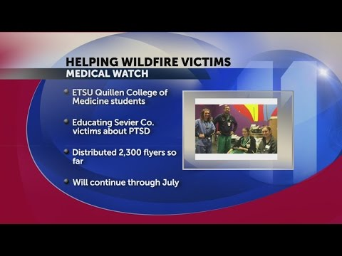 ETSU's Quillen medical students to help those affected by wildfires in Gatlinburg
