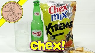 Chex Mix Xtreme Habanero Lime Snack & Bubble Up Soda
