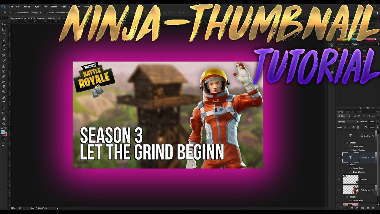 Ninja Fortnite Thumbnail Tutorial German Easy Youtube