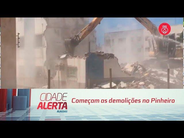Rachaduras em Maceió: começam demolições no Pinheiro