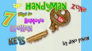 7 tricks to get broken key out yourself - any lock or key