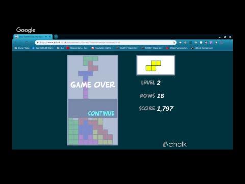 Tetris Echalk Games