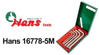 Hans 16778-5M — набор шестигранных ключей — видео обзор 130.com.ua