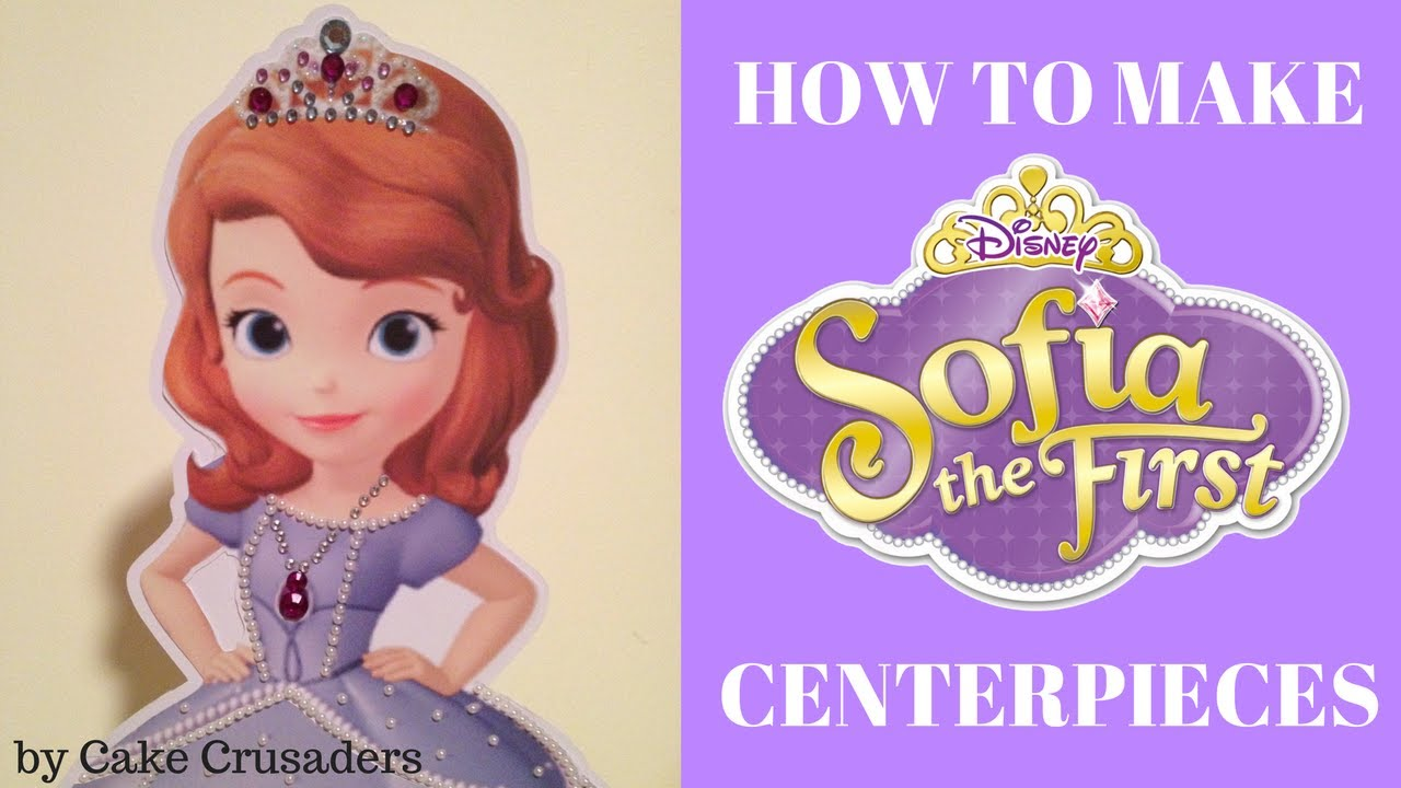 How To Make Sofia The First Party Decorations Centerpieces Youtube