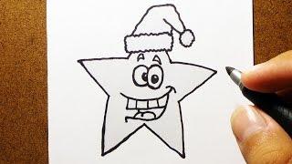 Como Desenhar Estrela de Natal