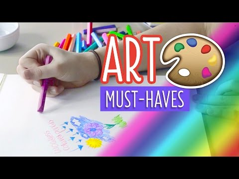 Caroline's Must-Have Art Supplies! | Totally Teenage Twins