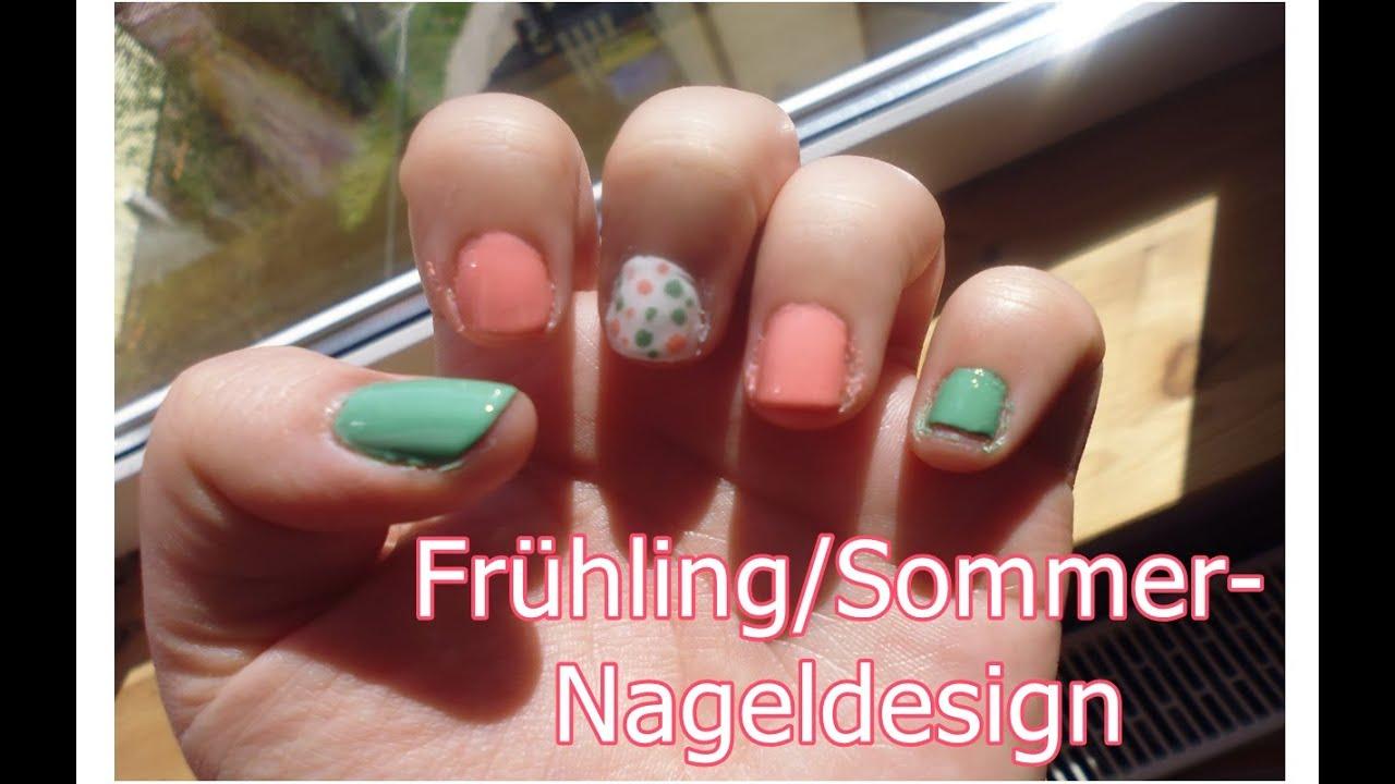 Nageldesign für den Frühling/Sommer . :) - YouTube
