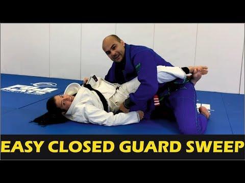 Easy BJJ Closed Guard Sweep by Deborah Gracie