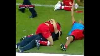 الدقائق المجنونه في مباراة السعوديه والبحرين 2-2 تصفيات كأس العالم 2010