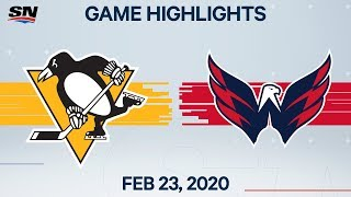 NHL Highlights | Penguins vs. Capitals - Feb. 23, 2020