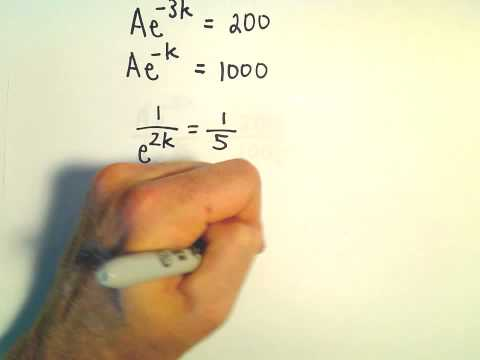 Exponential Growth / Population Growth Problem.