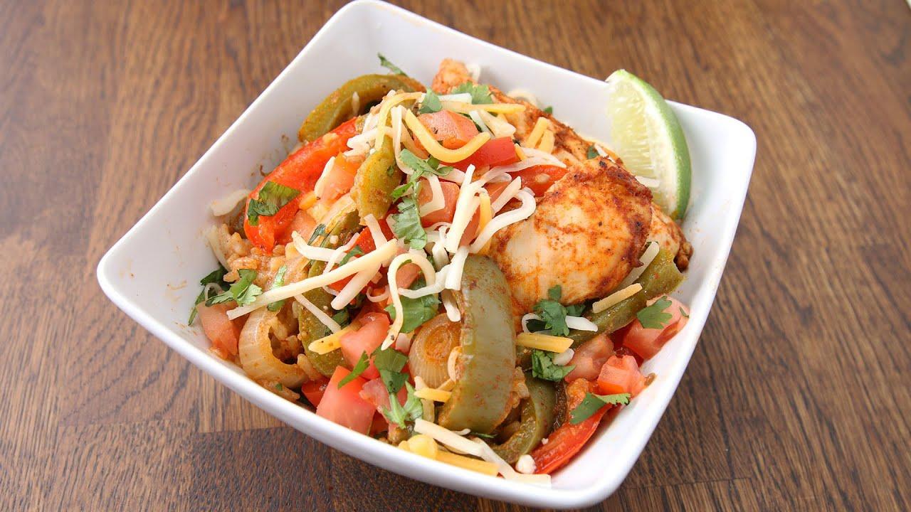 Easy Chicken Fajita Rice Bake Tasty