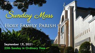 Sunday Mass   September 19, 2021
