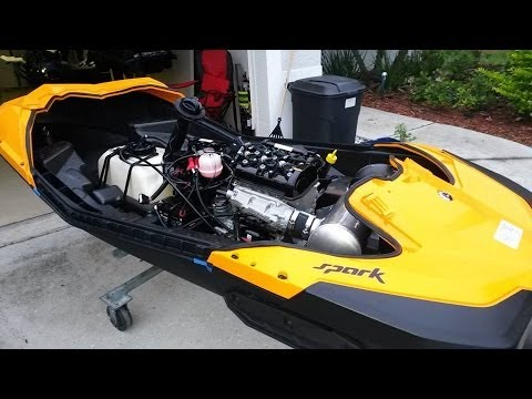 Seadoo Spark Upper Deck Removal Youtube
