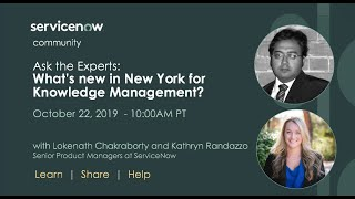 10/22 Ask the Expert: What's new in New York for Knowledge Management